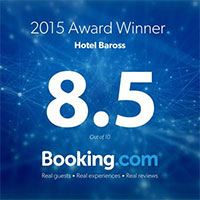 2015 Award Winner Hotel Baross 8.5/10 - Booking.com